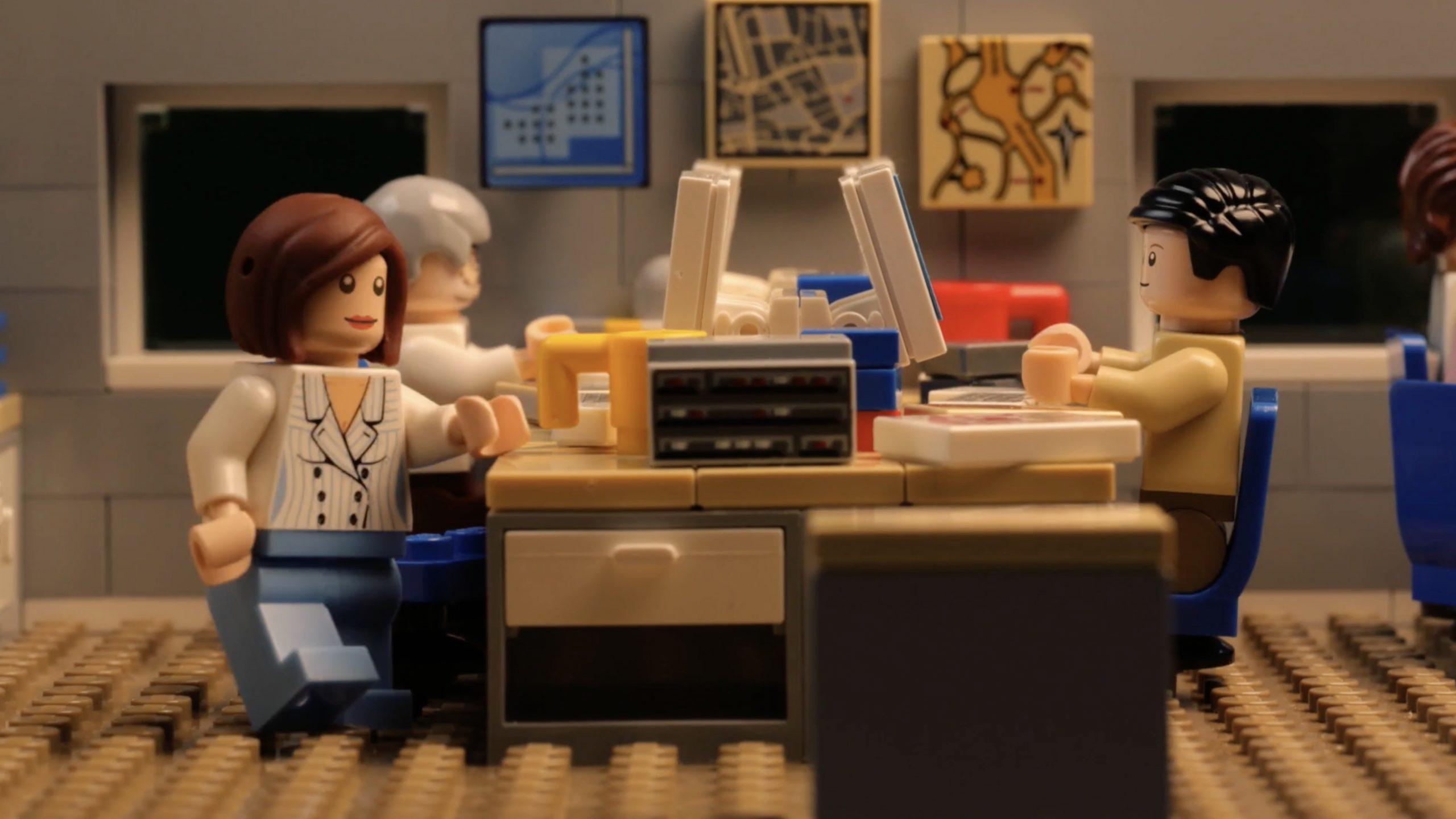 Lego stop motion animated video still