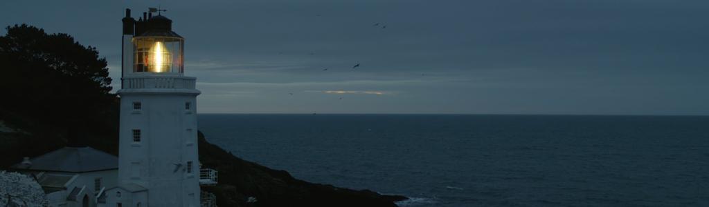 lighthouse drone video still