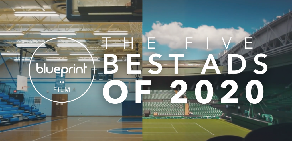 Header image featuring still from Nike 'You Can't Stop Us' ad and text reading 'The Five Best Ads of 2020'