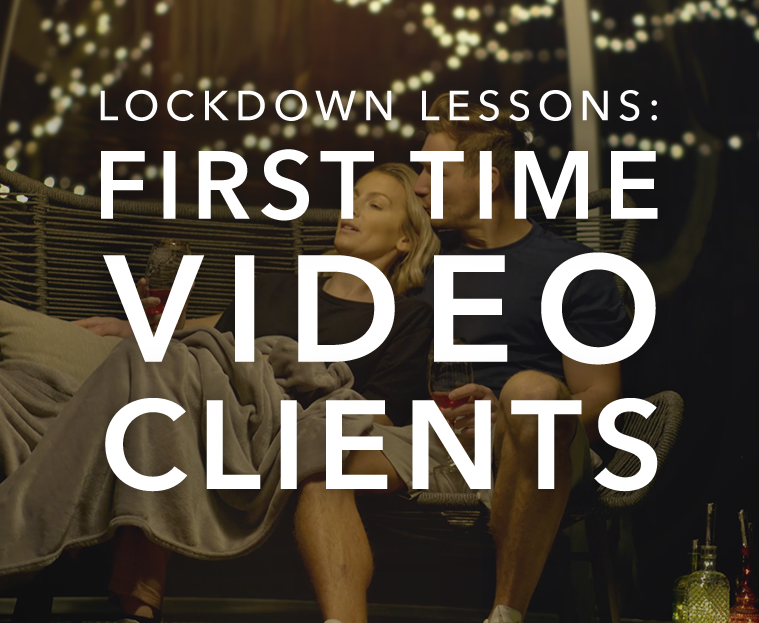 "Still from Starpoint Solutions Ad with text reading, ""First Time Video Clients"""