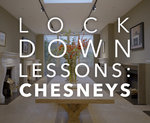 "Featured image with text reading ""Lockdown Lessons: Chesneys"""