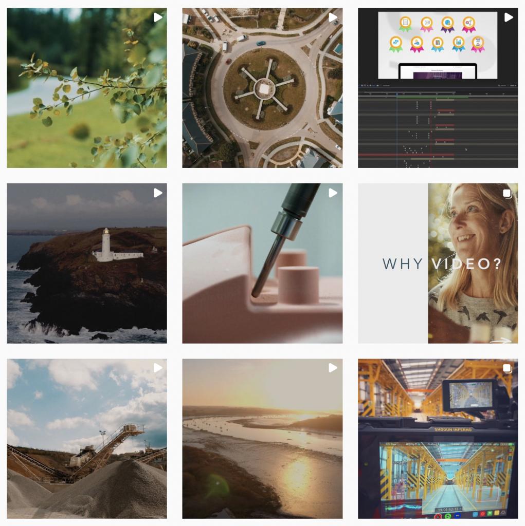 Image of Blueprint Film business Instagram profile grid