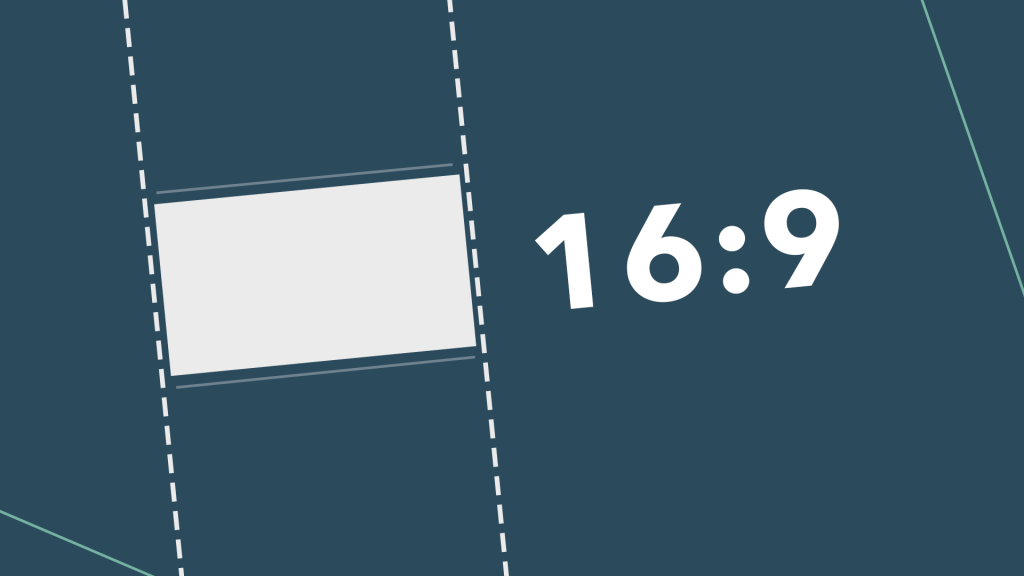 Image showing 16:9 video aspect ratio