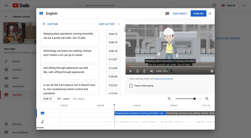 YouTube end screen settings screenshot